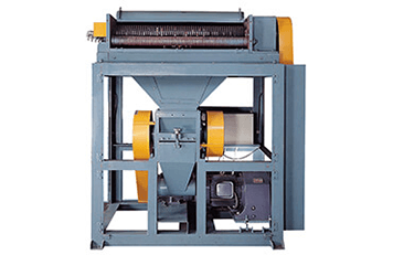 Recycle Machine for Trim Material With Guide Wheel