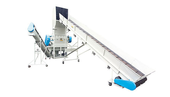 Input Conveyer+Crusher+Screw Type Conveying Outlet - Wan Ming Machinery